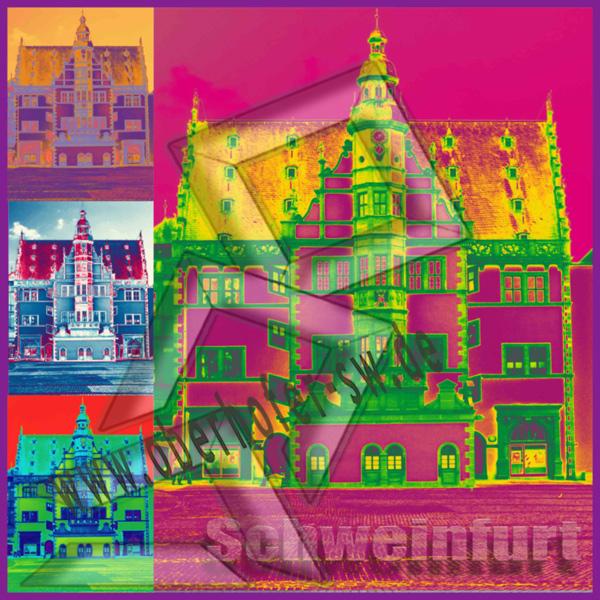 Schweinfurter Rathaus Pop Art 80 x 80 cm