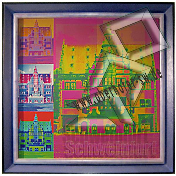 Schweinfurter Rathaus Pop Art mit Barockrahmen