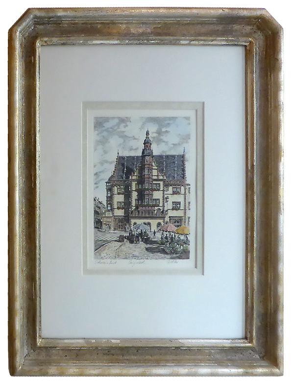 Schweinfurt Rathaus mit Sechs-Eck-Rahmen
