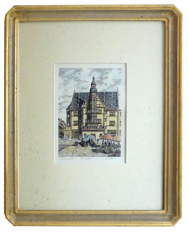 Schweinfurt Rathaus mit Achteck-Rahmen