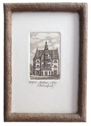 Schweinfurter Ansichten_klein_Rathaus mit Steinrahmen ohne Passepartout