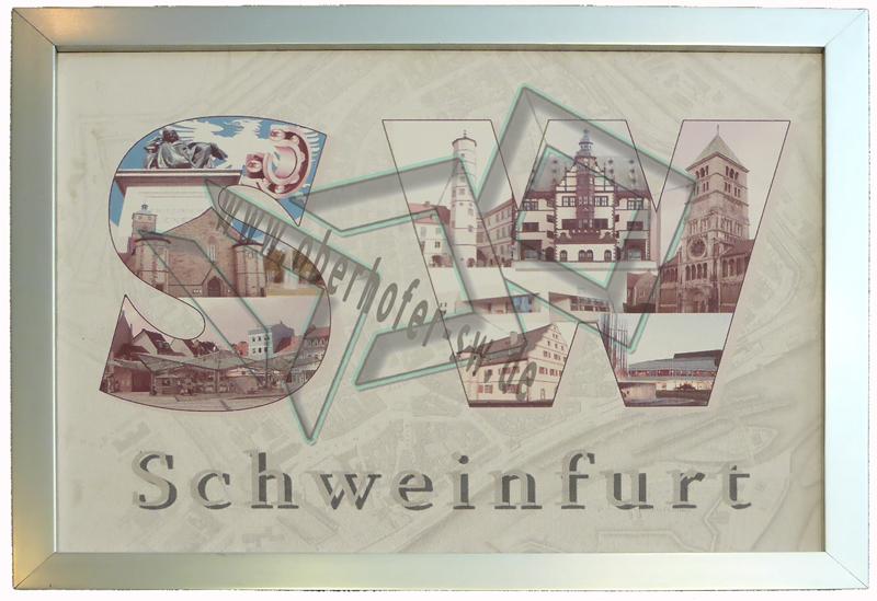 Schweinfurt _Collage_Rahmen_silber